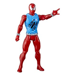 Spider-Man Titan Hero Web Warriors Scarlet Spider Figür